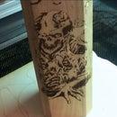 Zombie style Engraved wine holder box