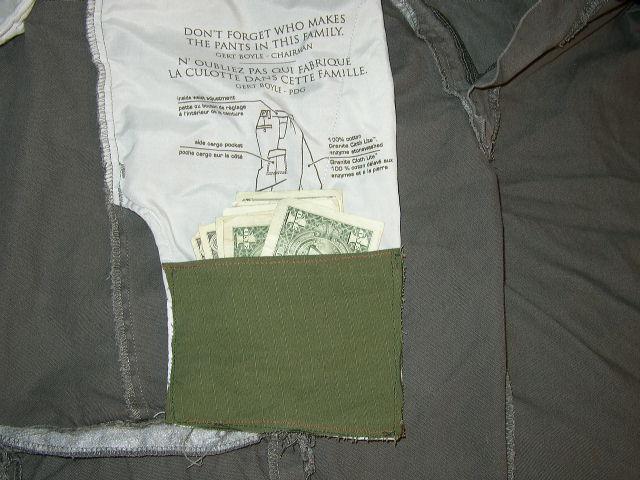 How to make an easy hidden pocket