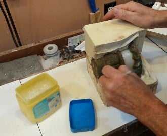 Prepare and Pour the Final Part of the Mold.