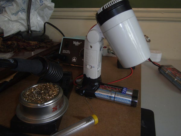 Solder Fume Extractor From Old Hair Dryer