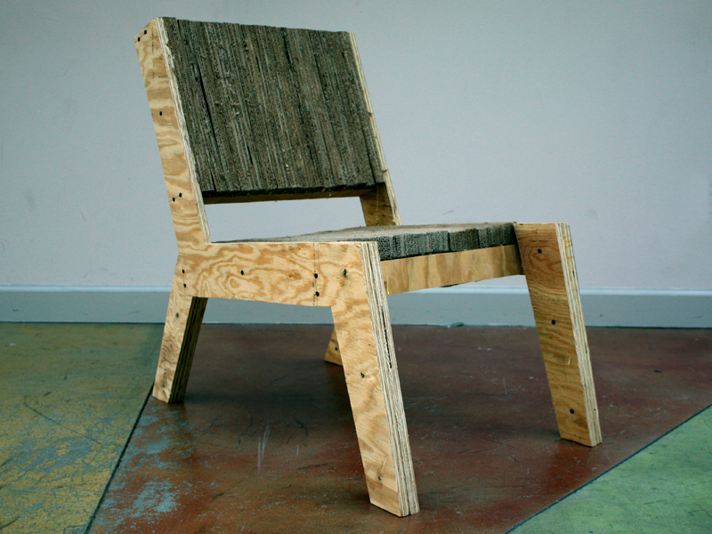 Cardboard/Plywood Lounger