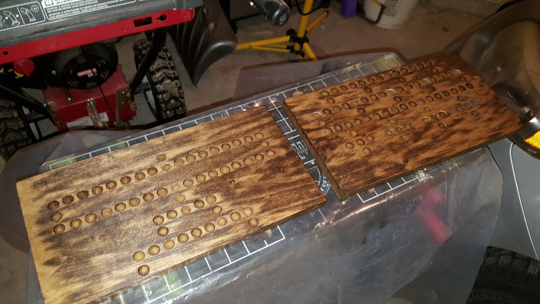 Pre-Staining, Staining, and Poly Finish