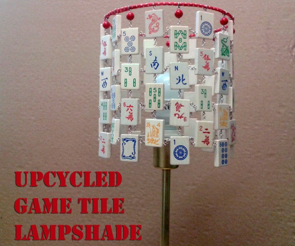 Upcycled Game Tile Lampshade