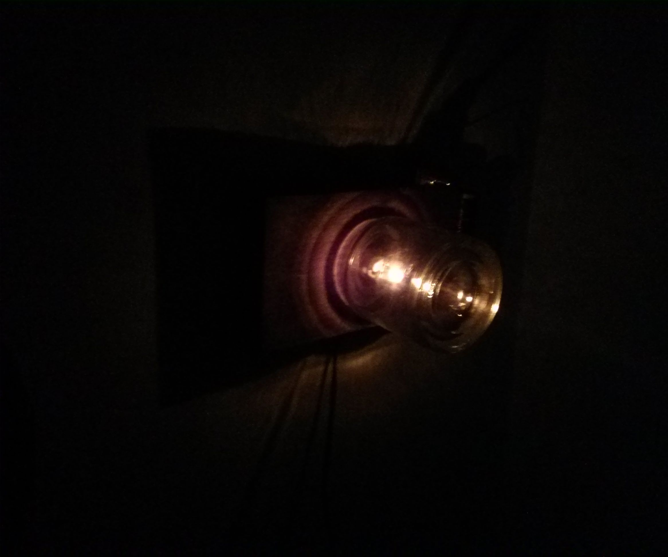 DIY Steampunk candle light lamp
