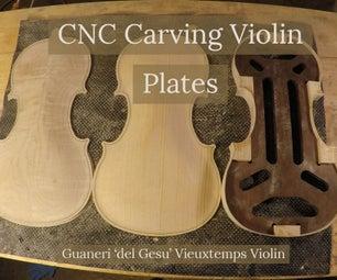 CNC Carving Violin Plates