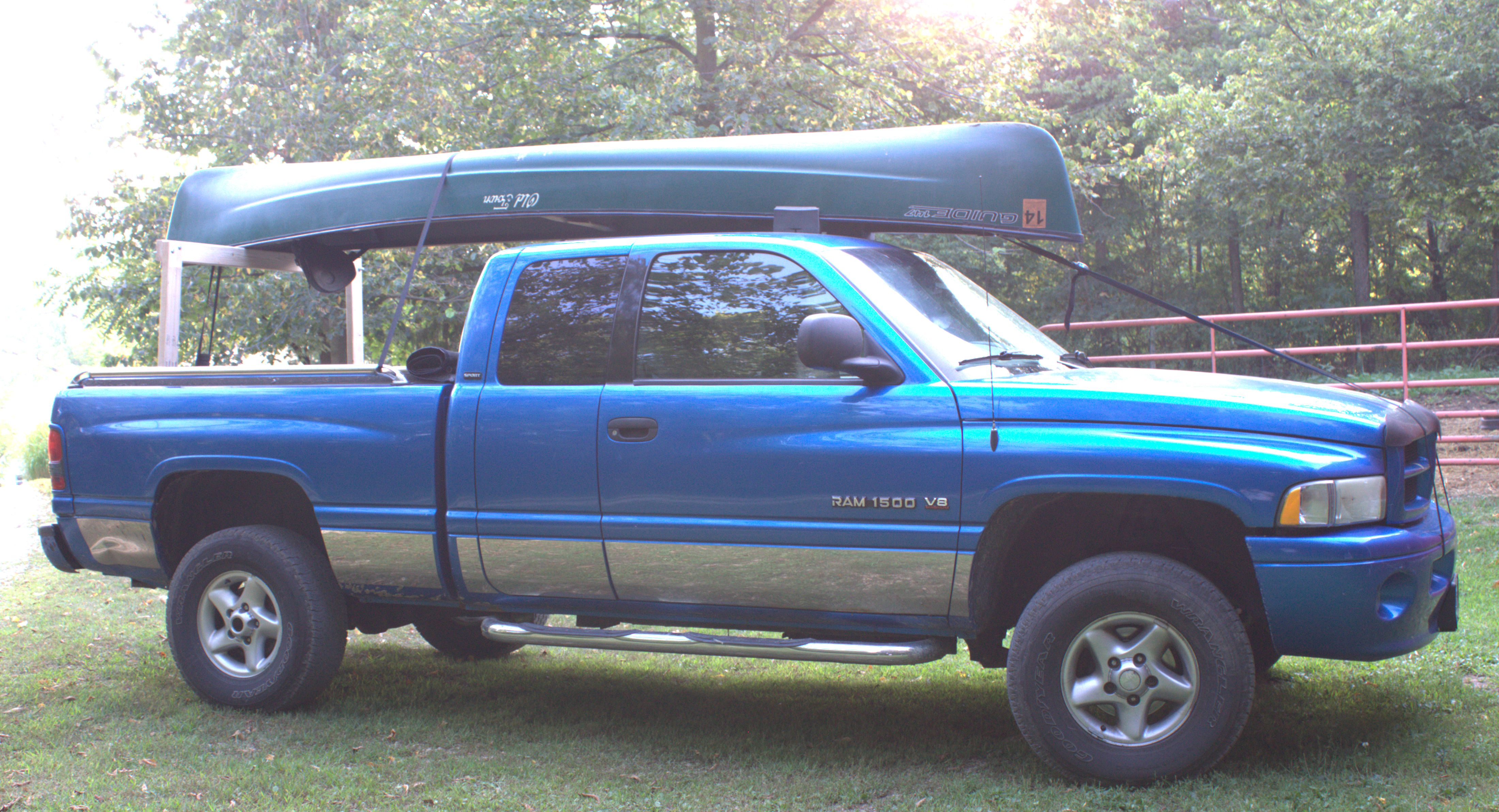 Build Your Own Low Cost Pickup Truck Canoe Rack
