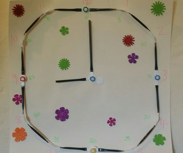 Teach a Child to Tell the Time With a Strawbees Clock