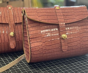 Gator Embossed Leather Purse
