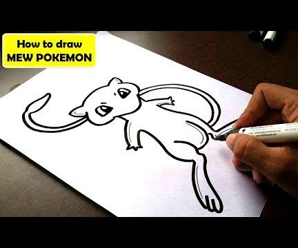 HOW TO DRAW MEW POKEMON