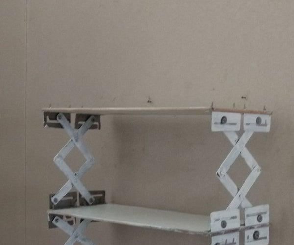 DIY Collapsible Shelf