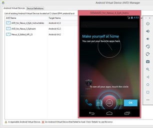 Part 2: Eclipse Mars 2 (Android Virtual Device Manager)
