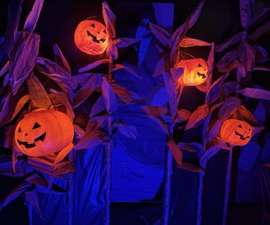DIY Halloween Cornstalks