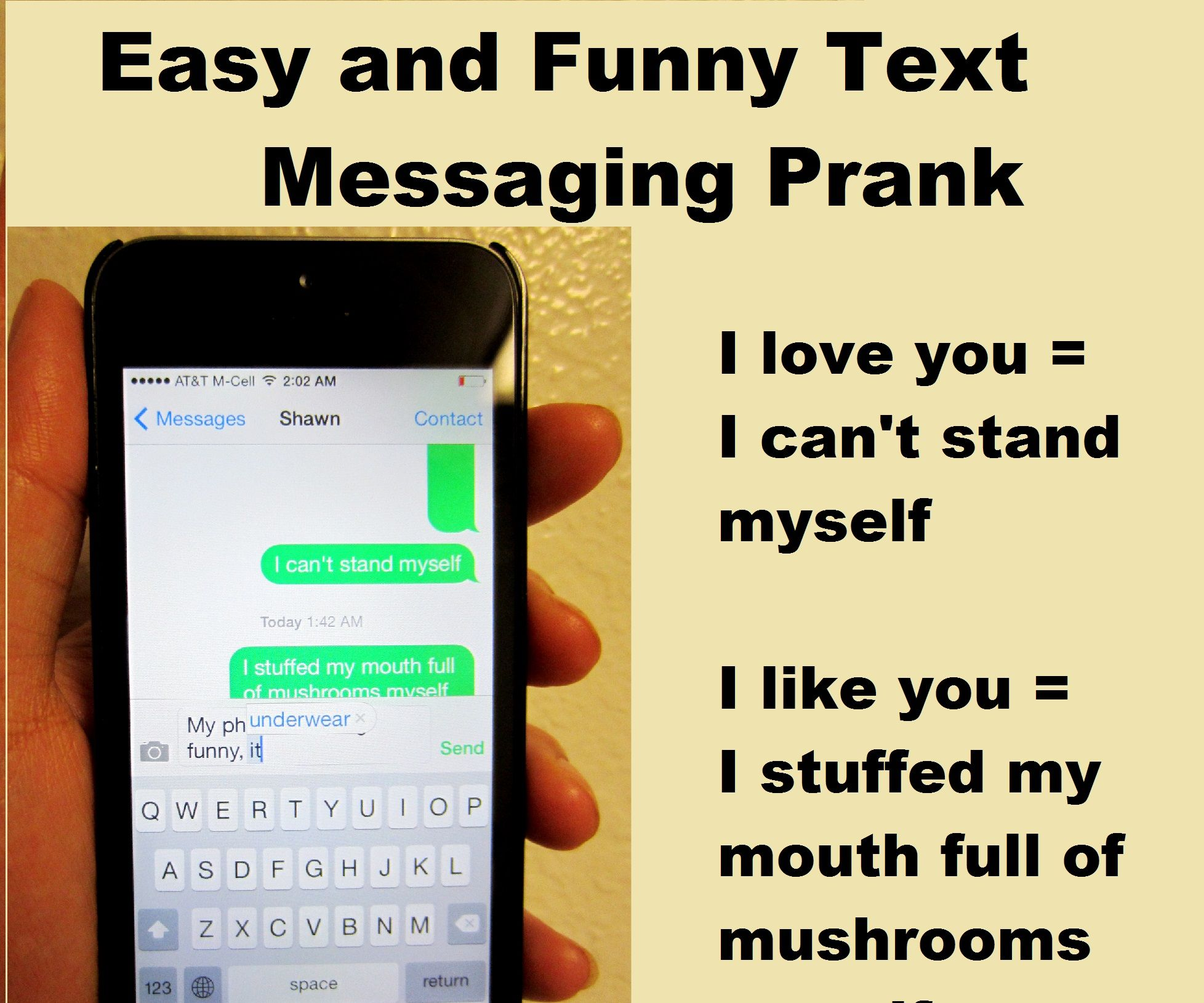 Easy and Funny Text Messaging Prank: Loads of lol