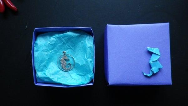 Seahorse Coin Cutting Pendant