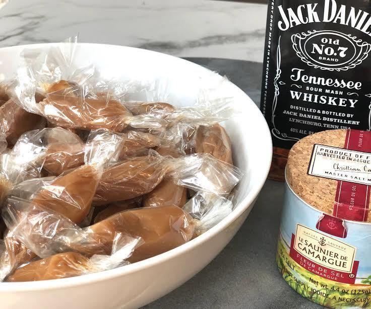 Creamy Bourbon Caramels With Sea Salt