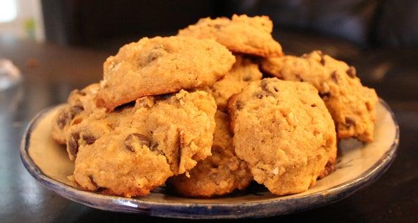 Delicious Gluten-Free/Vegan Pumpkin Chocolate Chip Cookies