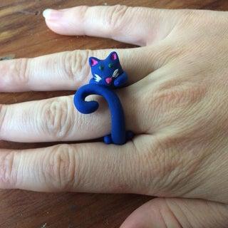 Clay Cat Rings