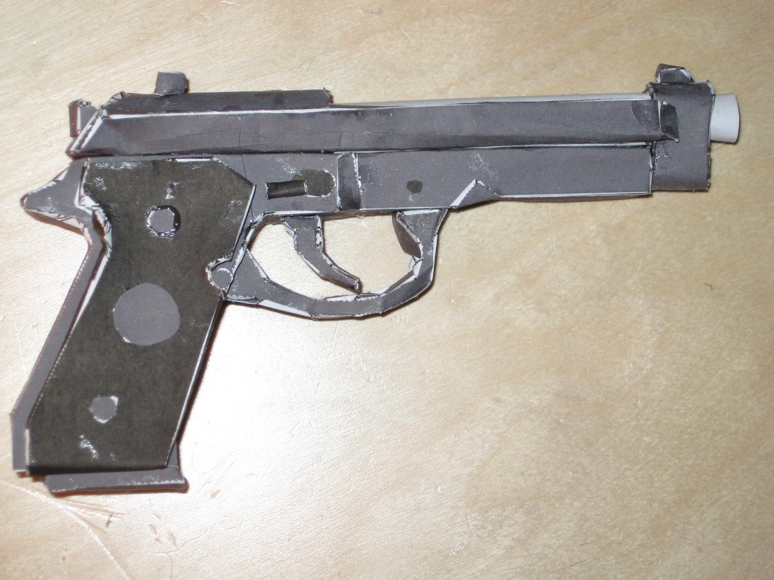 How to make a paper model gun!