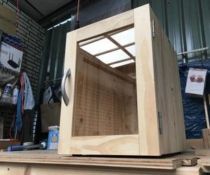 自制玻璃门小柜子