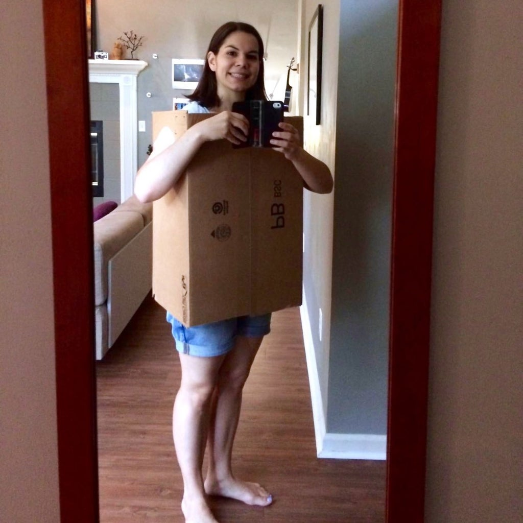 Start Out With a Good Sized Cardboard Box.