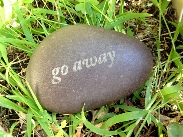 Laser Etched River Rocks & Stones - Inspirational Messages, Mantras, Slogans, & Inuendos