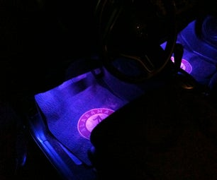 Dome Light Triggered LED Footwell Lighting for a 2010 Honda Fit
