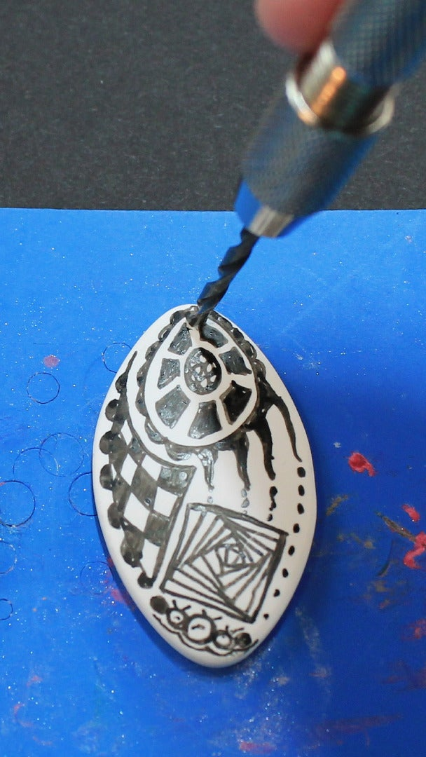 Draw Your Design on the Beads and Heat-set the Ink