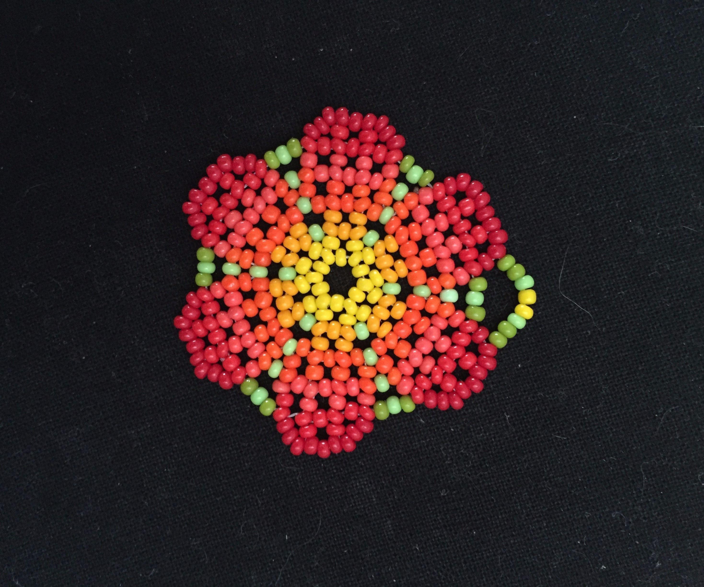 Beaded Huichol Peyote Flor (peyote Flower, Yes)