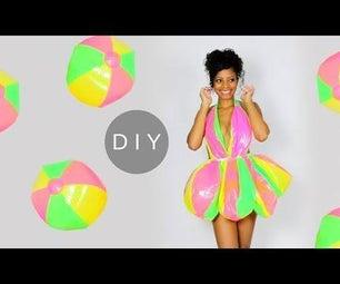 DIY Mini Dress Out of Beach Balls