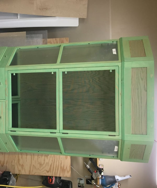Alicia's Chameleon Cage and Cabinet