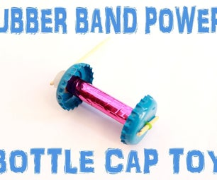 Make Rubber Band Powered Coke Cap Toy Kids Project