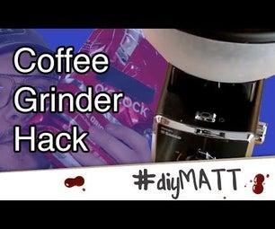 咖啡研磨机料斗黑客以获得更多豆类存贮