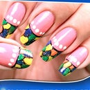 Colorful Tips Nail Art Design