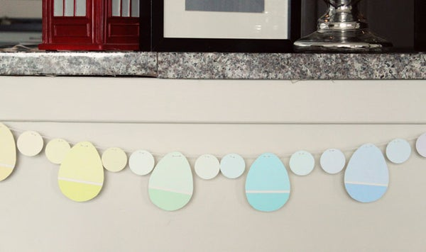Paint Chip Easter Egg Party Garland