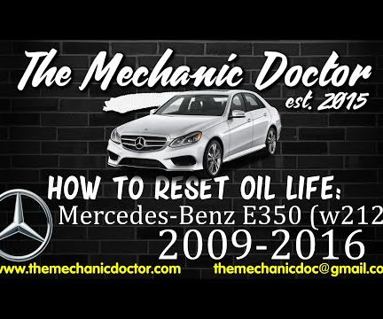 How to Reset Oil Life: Mercedes-Benz E350 (W212) 2009-2016