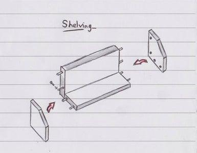 Shelving & Pin Board