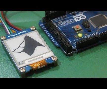 Interfacing an EPaper Display With Arduino