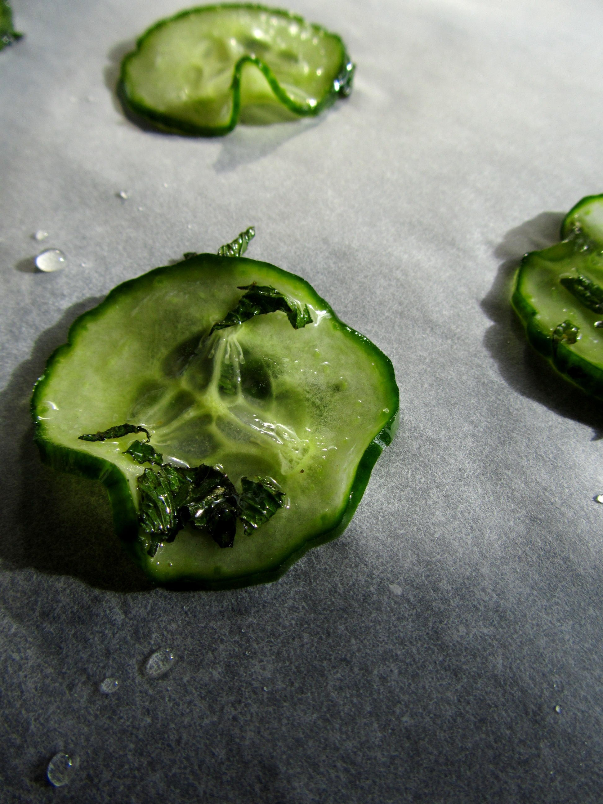 Cool Candied Cucumber