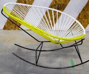 A Woven Mexican Rocking Chair