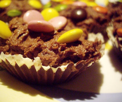 Large Delicious Chocolate Cup Cakes