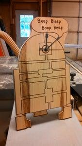 R2D2 Woodburning Clock