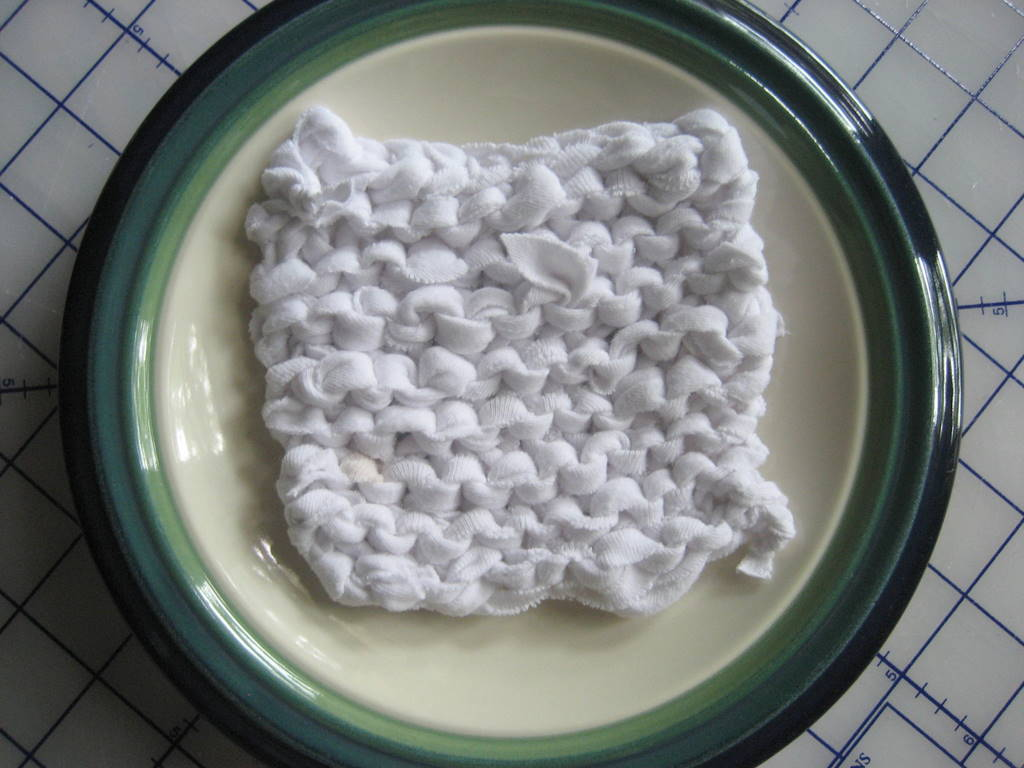 Knit a Dishcloth from old Clothes
