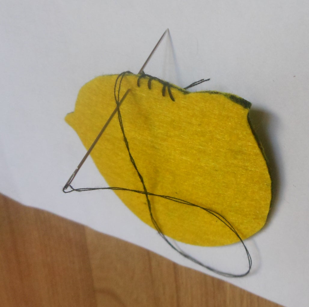 You Use the Thread and Needle to Sew Down 2 Pieces Together With the Blanket Stitch.