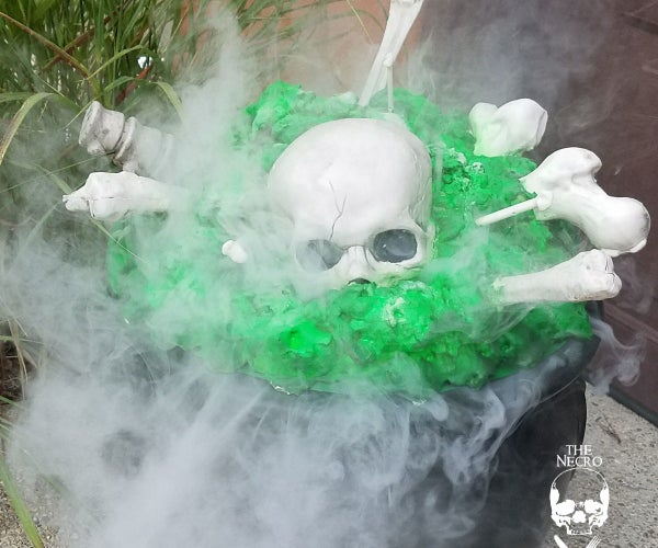 Halloween DIY:  Glow in the Dark Smoking Cauldron