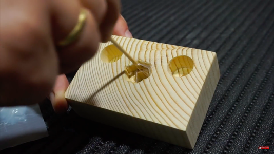 Inserting the Nuts in the Wood