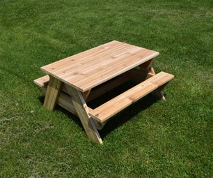 Cedar Kids' Picnic Table