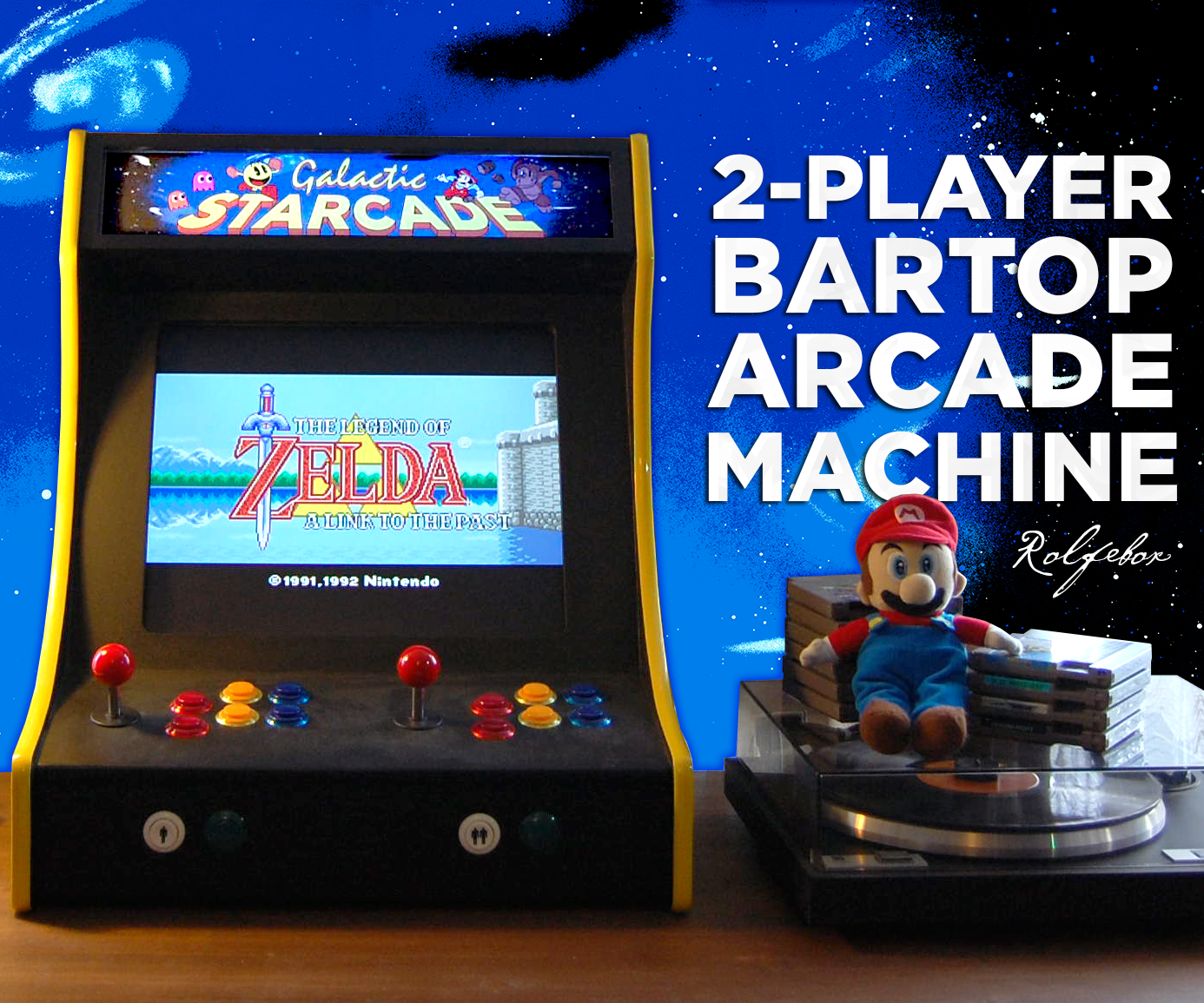 2 Player Bartop Arcade Machine Powered By Pi 19 Steps With Pictures Instructables