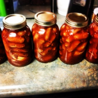 Spicey Pickled Dogs or Homemade Bahama Mama's
