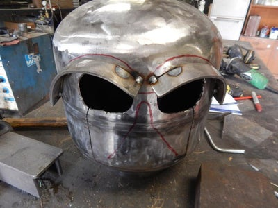 Create the Facial Features and Door Hinge and Handle