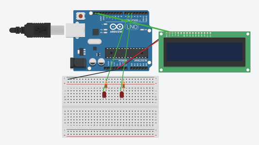 Attach LEDs to Breadboard